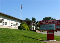 Sign and front of Cannonsburg Elementary School.