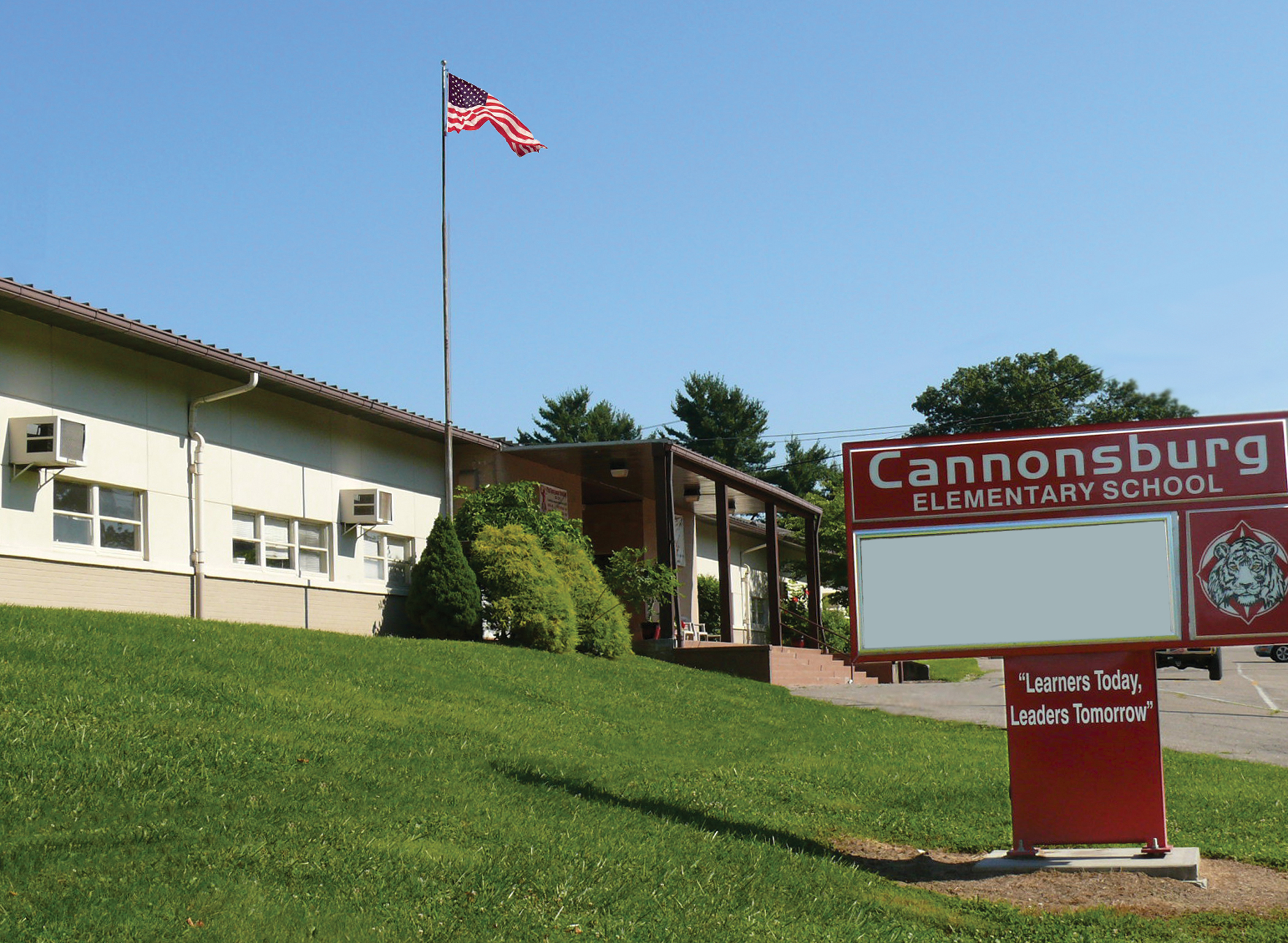 Photo of Cannonsburg Elementary School.