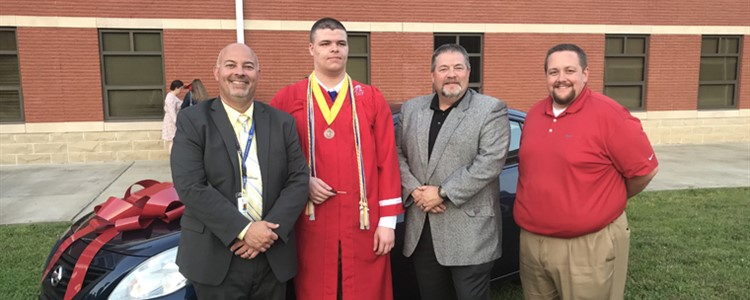 Congratulations Tim Sloan for being the lucky graduate to win the car donated by Bill Cole Auto Mall!