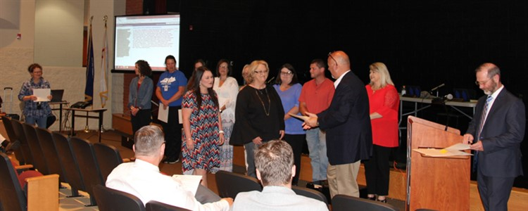 Boyd County Foundation For Children 2019-2020 Grant Recipients recognized at the May 30, 2019 Board of Education Meeting