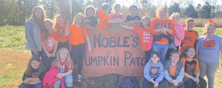 Mrs. Bailey's pumpkins visit Noble's Pumpkin Patch.