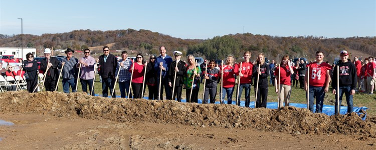 Boyd County High School Athletic Stadium Groundbreaking Ceremony on November 10, 2019