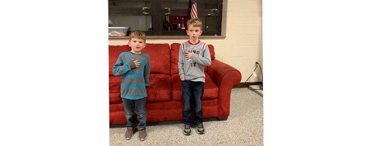 "Thank you to these ""little helpers"" for leading the Pledge of Allegiance at the BOE Dialogue Meeting."