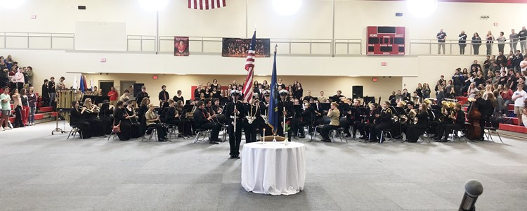 Honoring Veterans at Boyd County High School