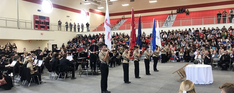 Veterans Day Ceremony at Boyd County High School