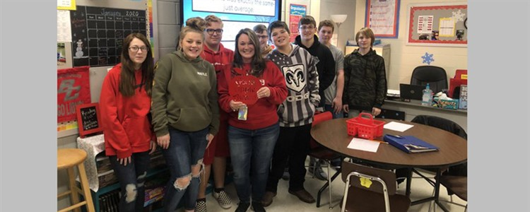 Ms. Reliford at Boyd County Middle is the Good Apple Award Winner - Congratulations!