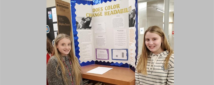 BCMS Students participating in the Science Fair