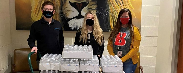 Mountain State Oral and Facial Surgery donated 504 water bottles to Boyd County High School - Thank you!