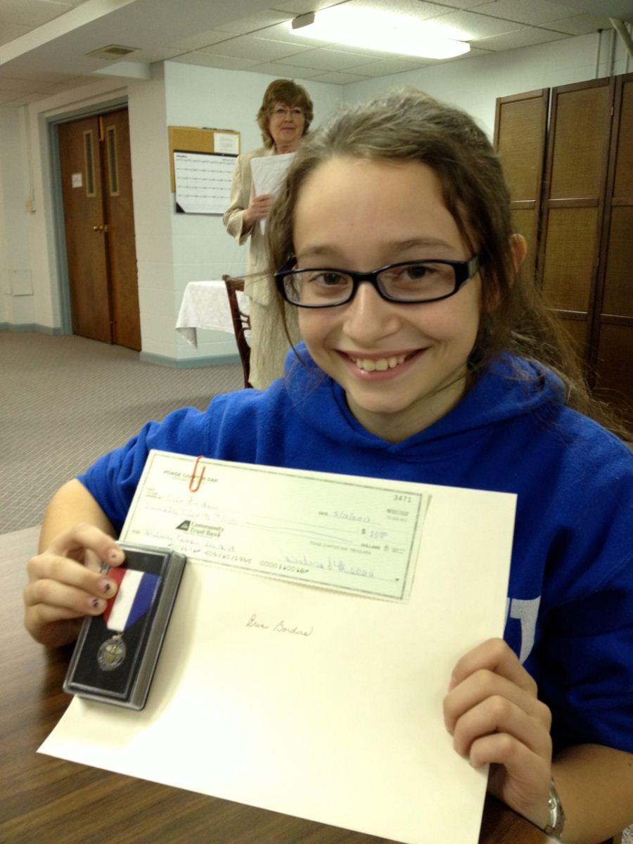 Daughter of American Revolution Essay Contest Winner