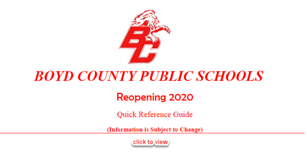 BCPS Reopening Quick Reference Guide