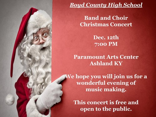 BCHS Band and Choir Christmas Concert