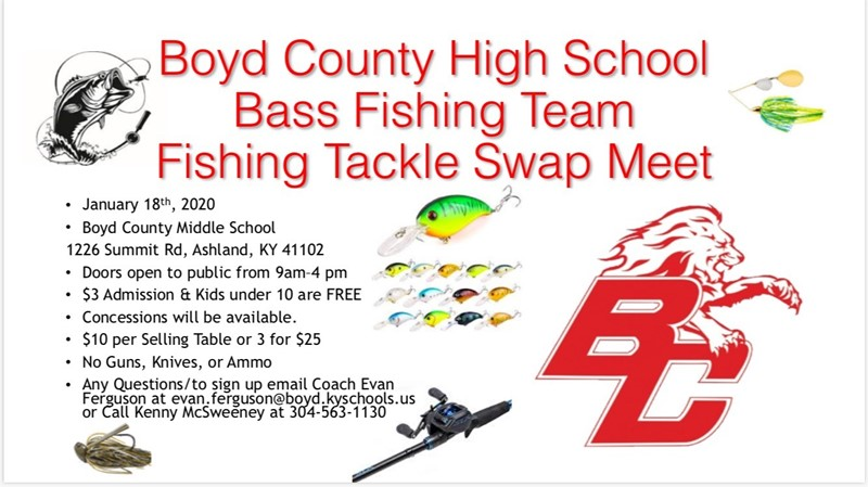 BCHS Bass Fishing Team Fishing Tackle Swap Meet
