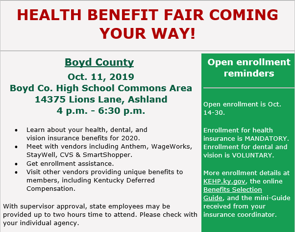 Health Benefit Fair