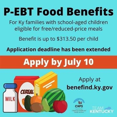 P-EBT Food Benefits Flyer