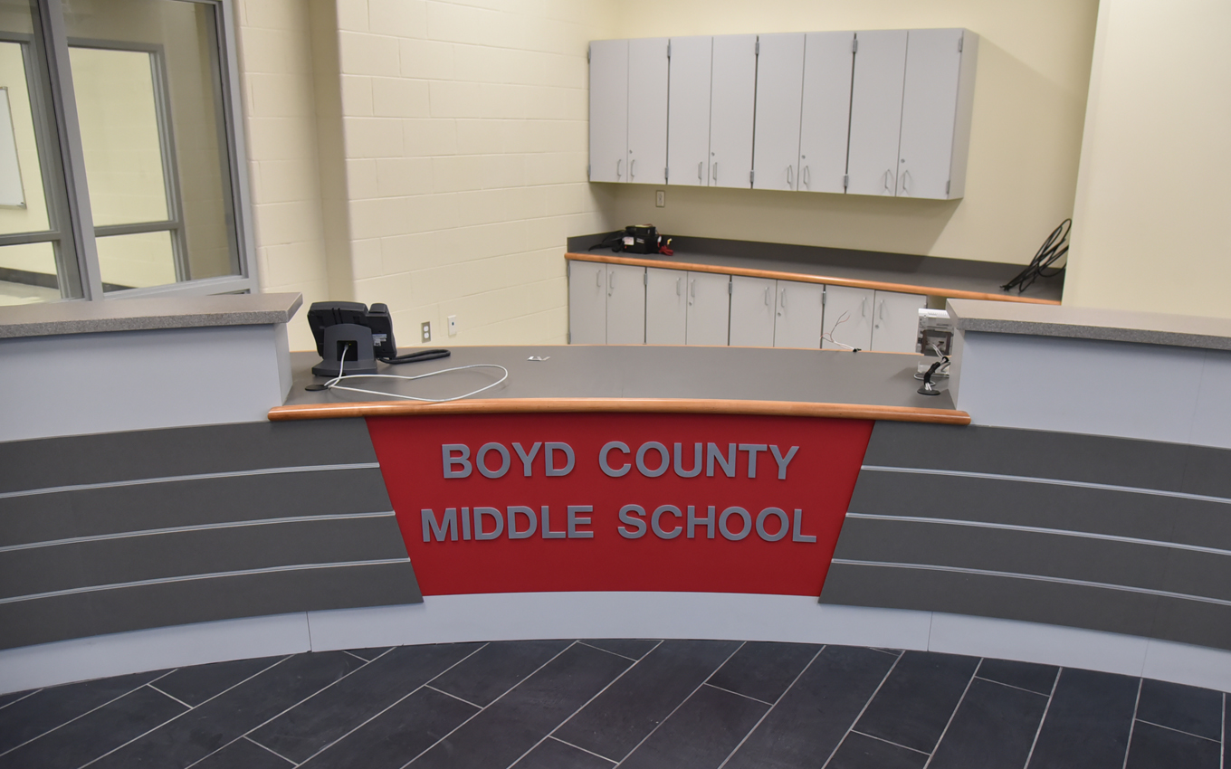 Temporary home of Boyd County Middle School (Heritage Building)