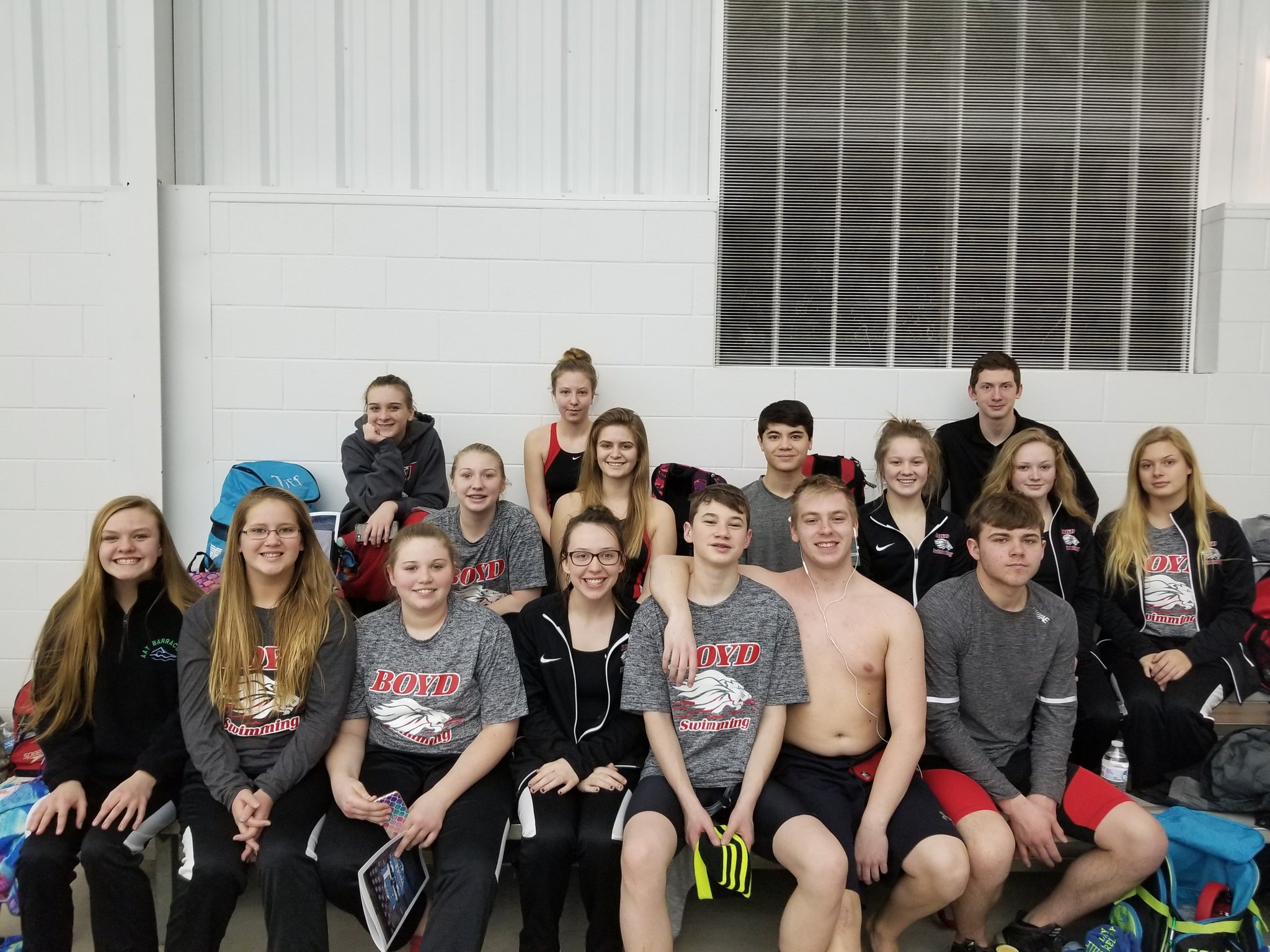Boyd County Swim Team 2018.