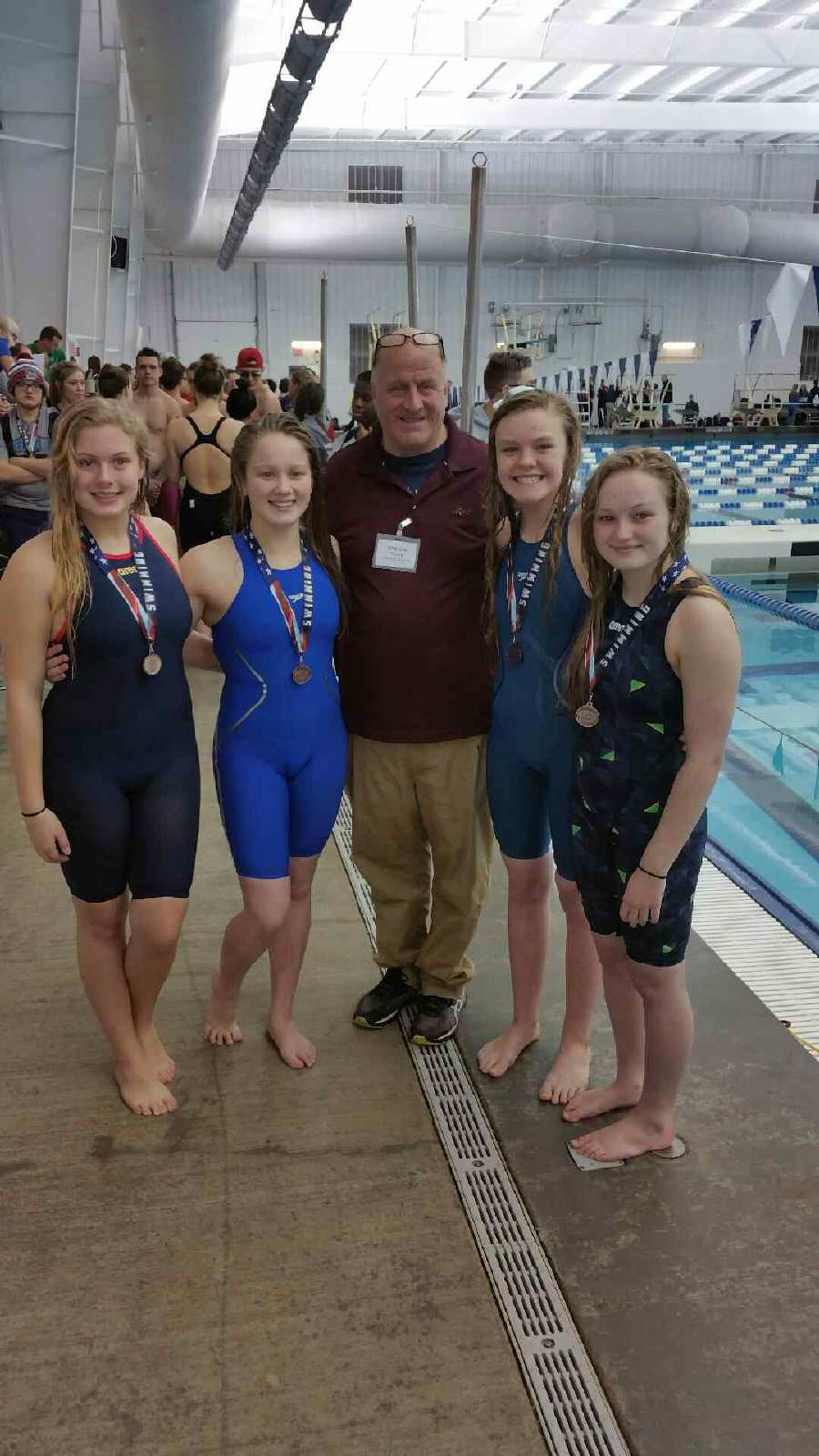 Girls Swimmers who are headed to State.