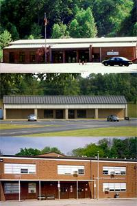 Tiled picture of all three Preschool locations. Top:  ECLC-North. Center:  ECLC-South. Bottom:  Catlettsburg Elementary.