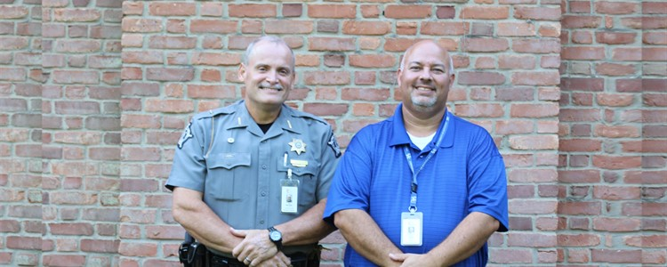 We welcome our new School Resource Officer, Deputy Tim Wechsler, left, pictured here with our Safe Schools Coordinator, Bill Boblett.