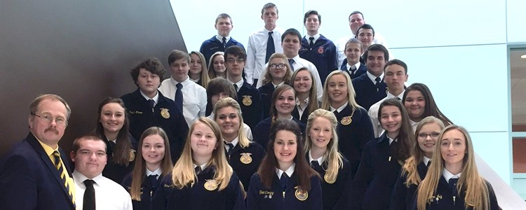 FFA Day was held at the Technology Drive campus of ACTC. Pictured are:  Emmett Boggess , Abby Conley, Emily Stapleton, Elliott Conley, Wade Blevins, Laney Thompson, Karli Jo Childers, Miranda Davis, Bryant Rakes, Jacob Wilks, Tiffany Smallridge, Greydon McCall, Zach Smith, Katie Yonts, Rylie St.Clair, Kinsey McDaniel, Kayla Rice, Taylor Lane, Hunter Davis, Matt Ferguson, Magen Hall, Layne Shipkosky, Irene Stepp, Logan Riffe, Dilun Queen, Jim Gibson, Kaden Bridges, Abby Williamson, Sydney Brown, and Autumn Ivy.