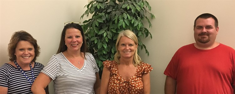 Meet our Teacher Leadership Team! Pictured here are our Science Strategy Specialists:   Rhonda Loos, Mary Leigh Lewis, Tami Maddox,  and Doug Bowling.  Not Pictured:  Kristina Vanover and Christine Gindlesperger.