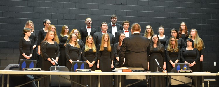 The BCHS Choir under the direction of Mr. Bowling performs Salvation is Created by Pavel Chesnokov. They performed for the board of education members in observance of Board of Education Appreciation Month.