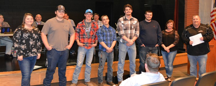 The SkillsUSA competitors were recognized for taking home several 1st, 2nd, and 3rd place honors. At far right is BCCTEC's welding instructor Garrett Kitchen.