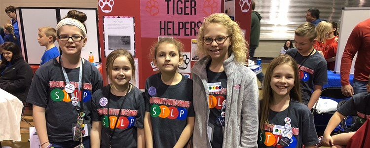 The 'fairer' team from Cannonsburg. Cannonsburg's Student Technology Leadership Program Team are shown here at the state competition held at Rupp Arena.