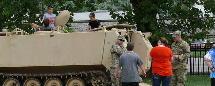 A big hit with the students at the Catlettsburg 21st Century Wow/Aces Summer Camp was the tank. Thank you for bringing it and thank you for your service!