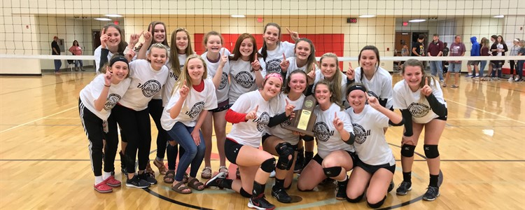 Our BCHS Volleyball District Champs!