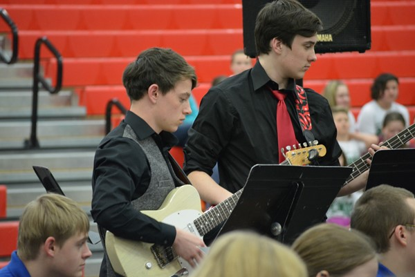Boyd County High Jazz Band - Elijah Miller and Christian Mullins.