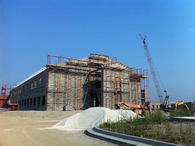 Construction of the new Boyd County High School.
