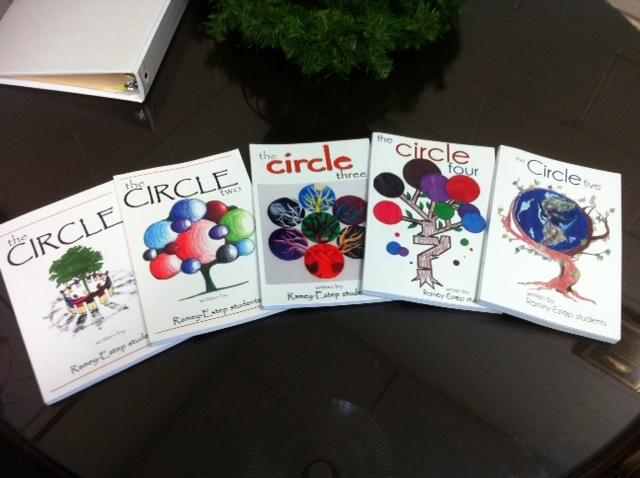Past editions of stories and poems by Ramey-Estep students; The Circle.