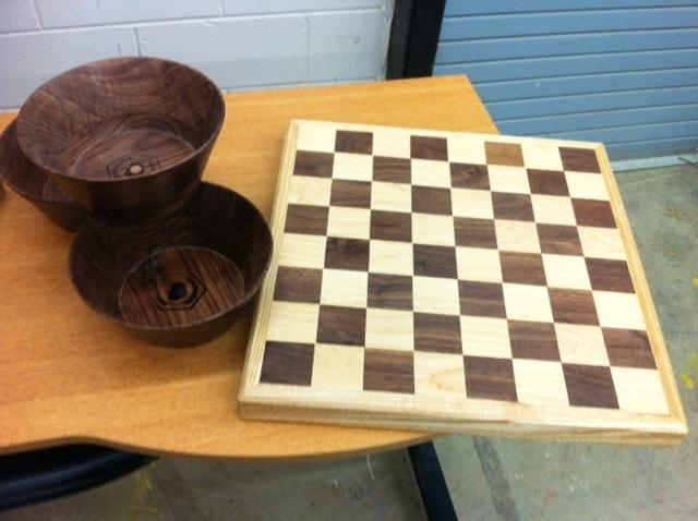 Woodworking by Ramey-Estep High students.