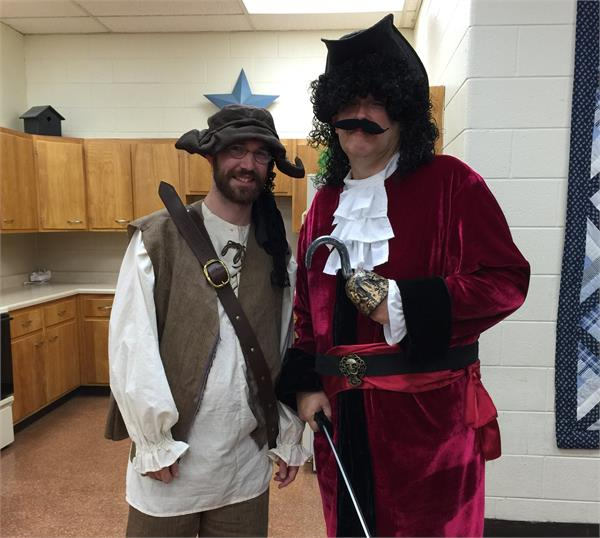 Smee and Captain Hook.