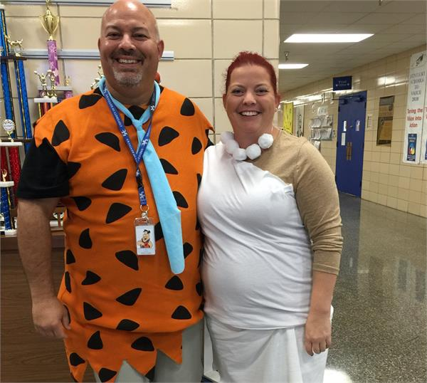 Fred and Wilma Flintstone!