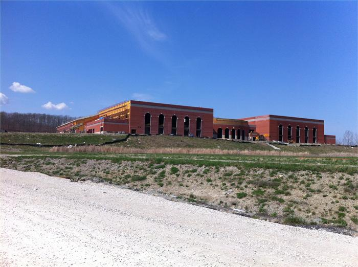Construction progress of the new Boyd County High School.