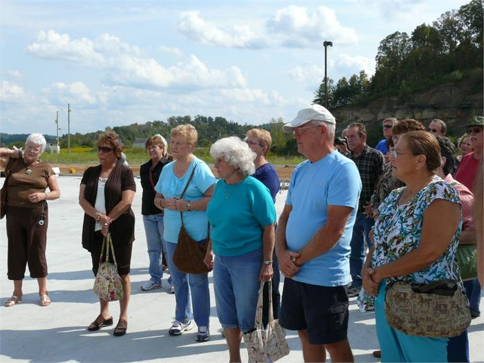 The class of 1964 tours the new Boyd County High.