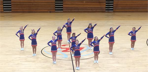 BCMS cheerleaders at the pep rally.