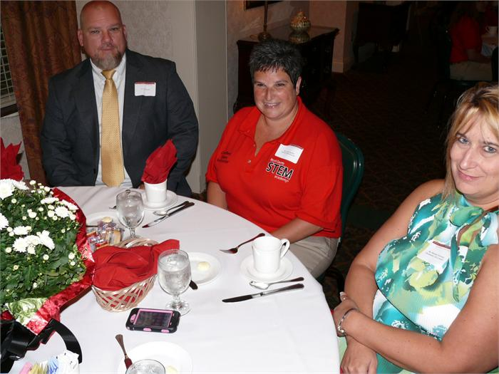 Area business leaders and BCHS teachers attending the luncheon.