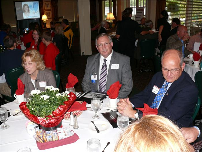 Area business leaders attending the luncheon.