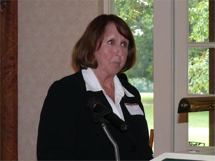 Norma Meek, organizer of the STEM luncheon, speaks at the community awareness event.