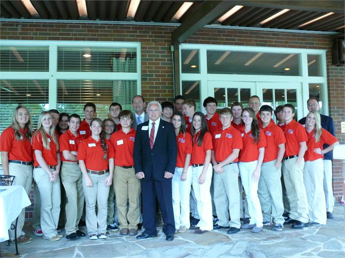 Boyd County High School students pose with State Representative Rocky Adkins (back row, center) and State Senator Walter Blevins (front row, center).