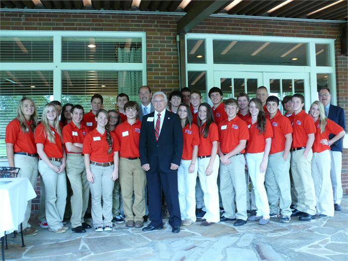 State Senator Walter Blevins poses with BCHS STEM students.
