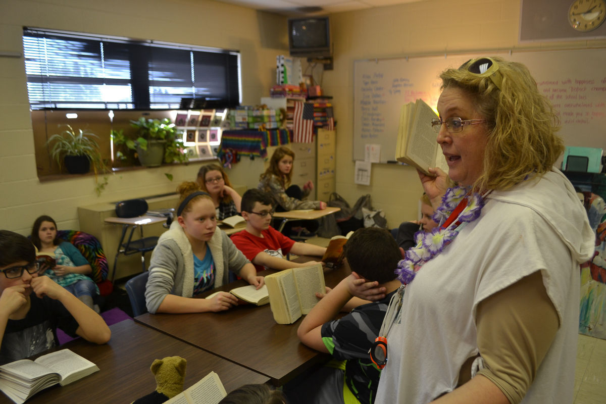 Teacher Linda Hoffman hopes to inspire her students to become lifelong readers.