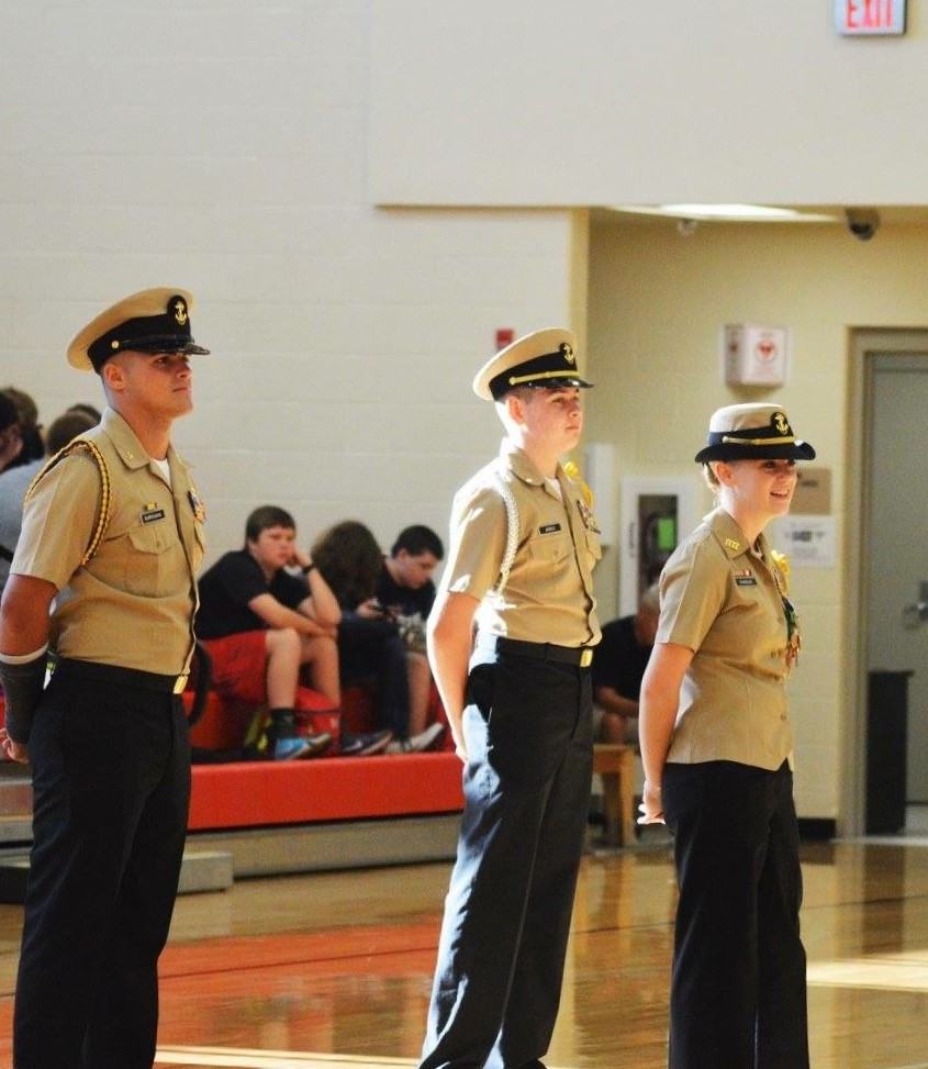 NJROTC cadets at Boyd County High prepare for their annual inspection