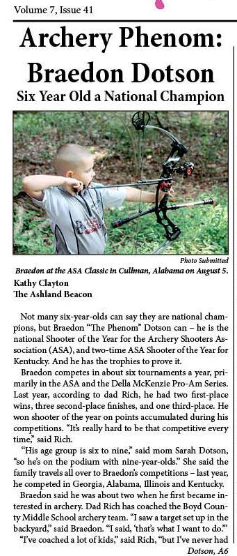 GAB page 1 Dotson article