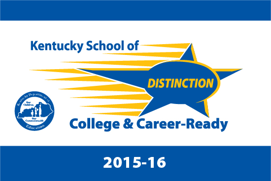 Kentucky Department of Education logo for a Kentucky School of Distinction for 2015-2016