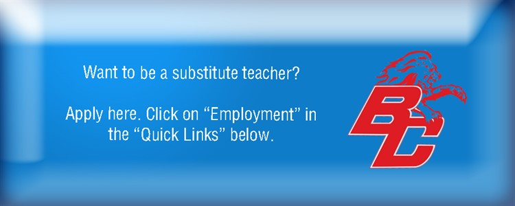 Ad for substitute teachers.