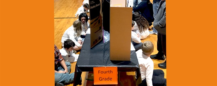 Catlettsburg Science Fair - participants wait for the judges to look over their projects.